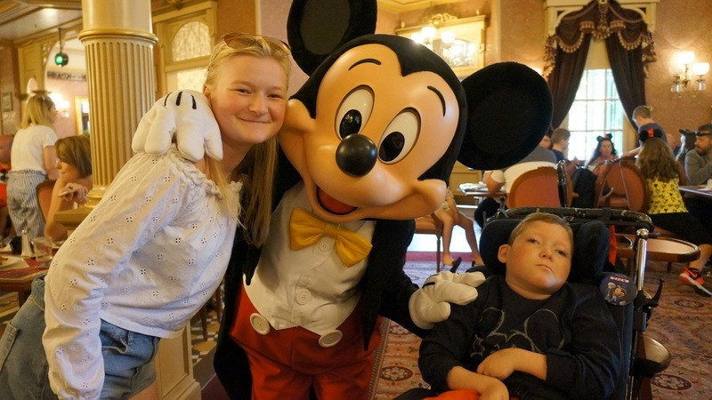 Zac having a wonderful 10th Birthday in Disneyland Paris